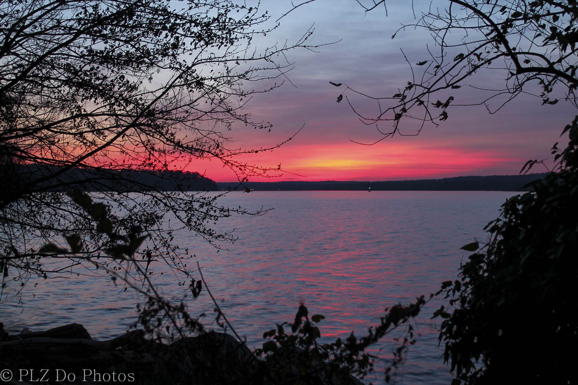 SUNRISE OVER THE POTOMAC - Sunrise over the Potomac in the fall. by Patricia Zyzyk