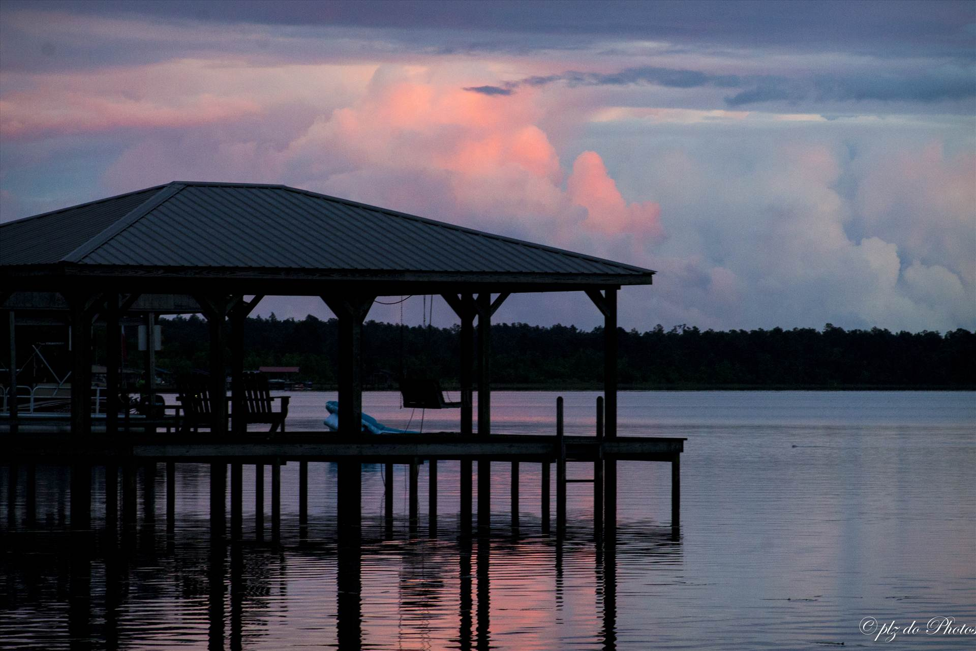 Red Sky at Night - Sunset at Lake Waccamaw, NC by Patricia Zyzyk